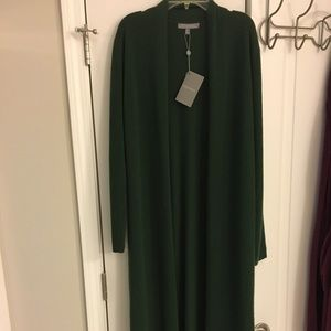 New!! Cashmere long Green cardigan sweater